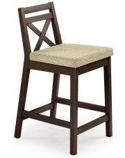 Drewniane krzesło do baru Lidan - ciemny orzech w sklepie Edinos.pl