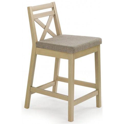 Zdjęcie produktu Drewniane krzesło barowe Lidan - dąb sonoma.
