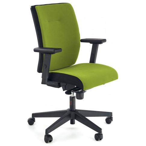 Zielony nowoczesny fotel obrotowy z regulowanymi podłokietnikami Revex