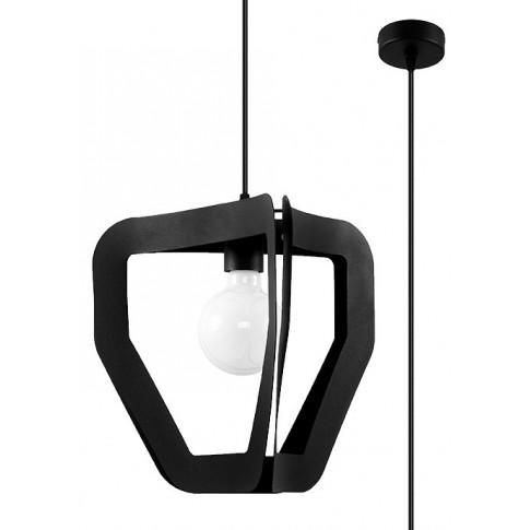 Czarna geometryczna lampa wisząca loft EXX234-Trevi