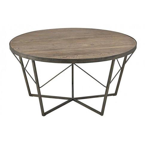 Okrągły stolik kawowy z wiązu Jalop