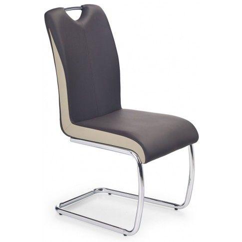 Zdjęcie produktu Tapicerowane krzesło Goran - ciemny brąz.