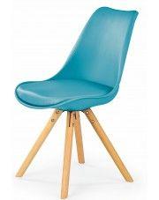 Krzesło w stylu skandynawskim Depare - turkusowe w sklepie Edinos.pl
