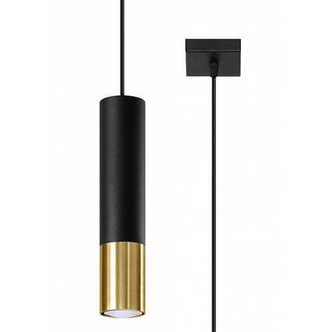 czarno-złota pojedyncza lampa wisząca EXX244-Loper