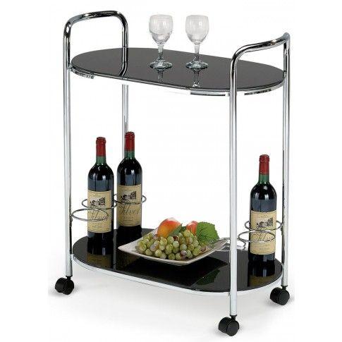 Zdjęcie produktu Barowy stolik na kółkach Barton - czarny.