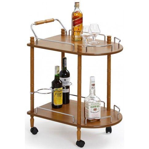Zdjęcie produktu Barowy stolik na kółkach Lifton - buk.