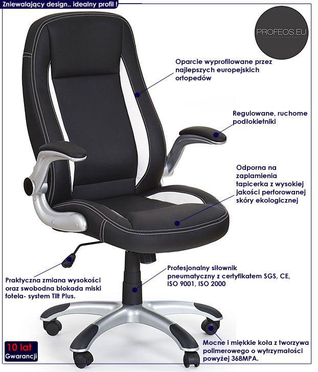 Czarny fotel obrotowy do biura Jowisz