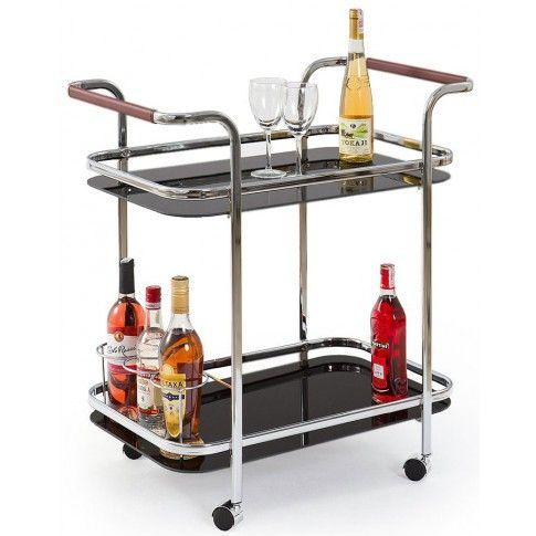 Zdjęcie produktu Barowy stolik na kółkach Enton - czarny.