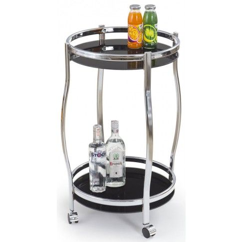 Zdjęcie produktu Barowy okrągły stolik na kółkach Alvor.