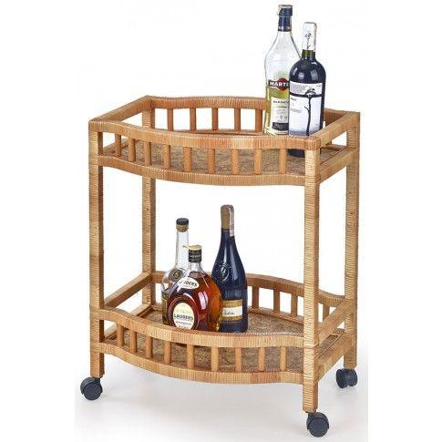 Zdjęcie produktu Wiklinowy stolik barowy na kółkach Ifiks.