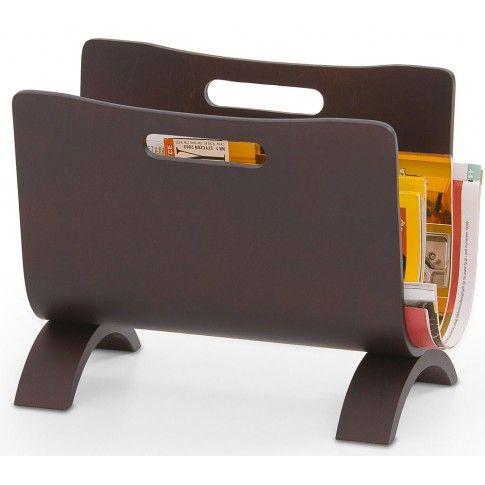 Zdjęcie produktu Drewniany stojak na gazety Elgan.