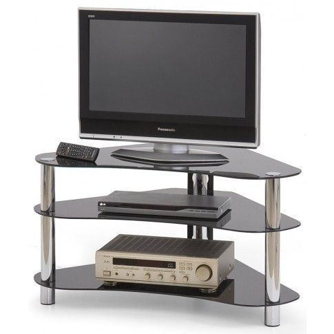 Zdjęcie produktu Szklany stolik pod telewizor Ibrex - czarny.