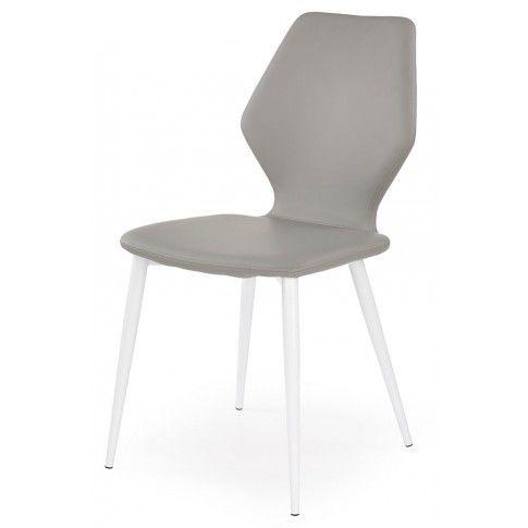 Zdjęcie produktu Profilowane krzesło Nolin - popielate.