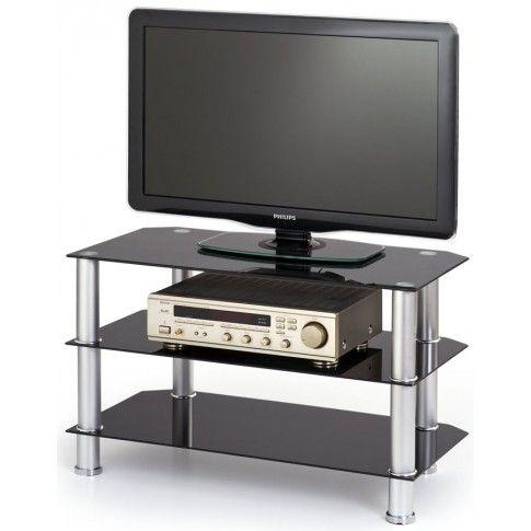 Zdjęcie produktu Szklany stolik pod telewizor Sento - czarny.