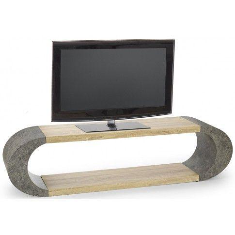 Zdjęcie produktu Industrialny stolik RTV Lineo - dąb sonoma + beton.