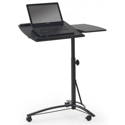 Zdjęcie produktu Regulowane biurko na kółkach Ertis - czarne.