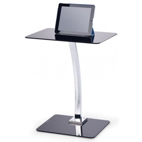 Zdjęcie produktu Szklane biurko pod laptopa Koller - czarne.