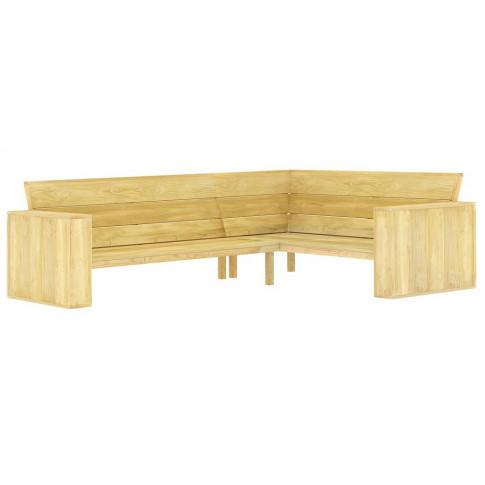 Drewniana narożna ławka ogrodowa Conal 3X