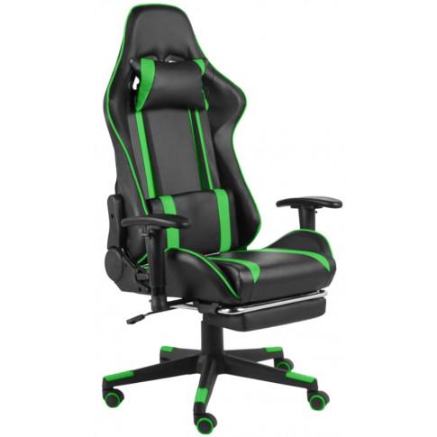 Fotel ergonomiczny z podnóżkiem Epic Gamer: podgląd