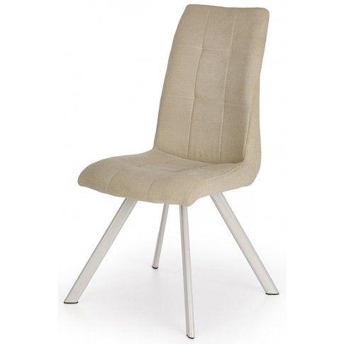 Zdjęcie produktu Pikowane krzesło Fixin - beżowe.