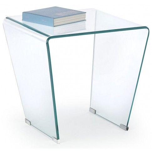 Zdjęcie produktu Kwadratowa ława z giętego szkła Nola.