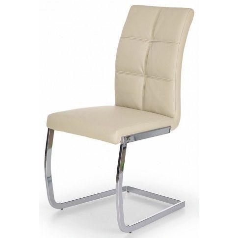 Zdjęcie produktu Krzesło tapicerowane Levon - kremowe.