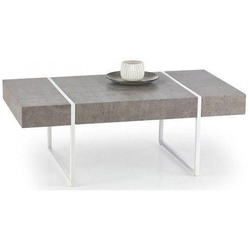 Zdjęcie produktu Ława w industrialnym stylu Fidia - beton + biała.