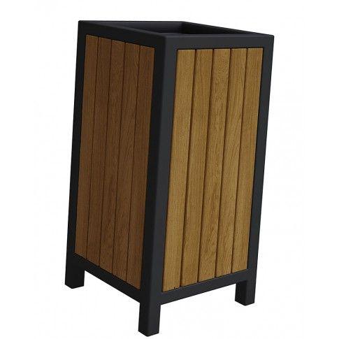 Zdjęcie produktu Drewniany kosz na śmieci Norin - 24 kolory.