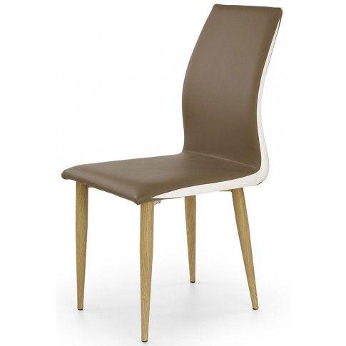 Zdjęcie produktu Tapicerowane krzesło Ardon - brązowe.