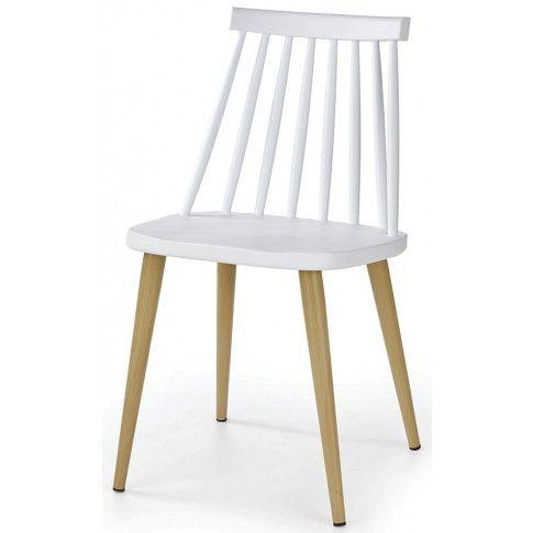 Zdjęcie produktu Minimalistyczne krzesło Erfan - białe.