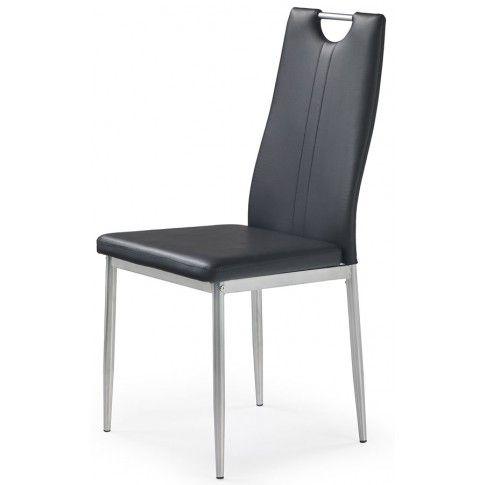 Zdjęcie produktu Krzesło tapicerowane Vulpin - czarne.