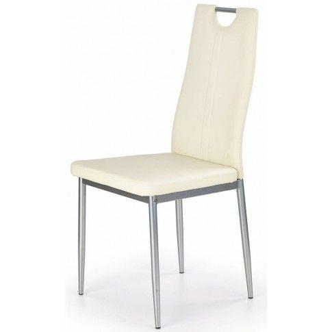 Zdjęcie produktu Krzesło tapicerowane Vulpin - kremowe.