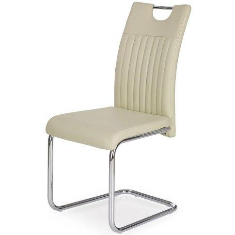 Zdjęcie produktu Krzesło tapicerowane Noxin - kremowe.