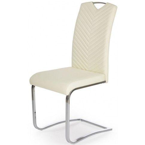 Zdjęcie produktu Krzesło tapicerowane Ruten - kremowe.