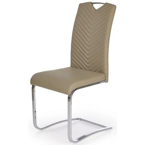 Zdjęcie produktu Krzesło tapicerowane Ruten - cappuccino.
