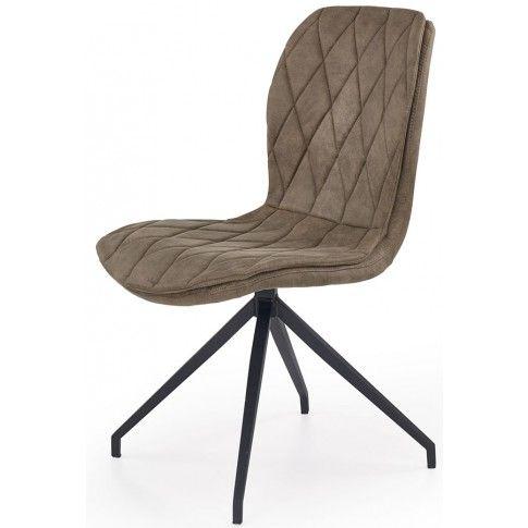 Zdjęcie produktu Stylowe tapicerowane krzesło Gimer - beżowe.