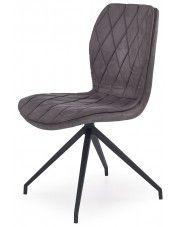 Krzesło w industrialnym stylu Gimer - popielate w sklepie Edinos.pl