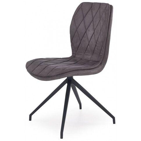 Zdjęcie produktu Krzesło w industrialnym stylu Gimer - popielate.