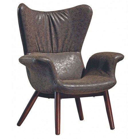 Zdjęcie produktu Fotel wypoczynkowy Gasper - czekoladowy.