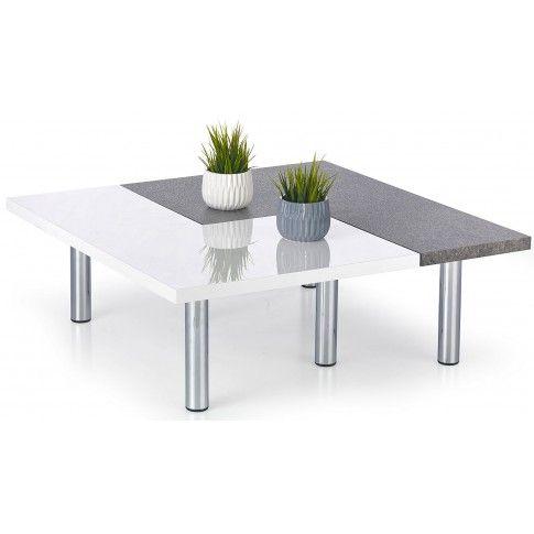 Zdjęcie produktu Zestaw 2 ław Libra - biały połysk + beton.