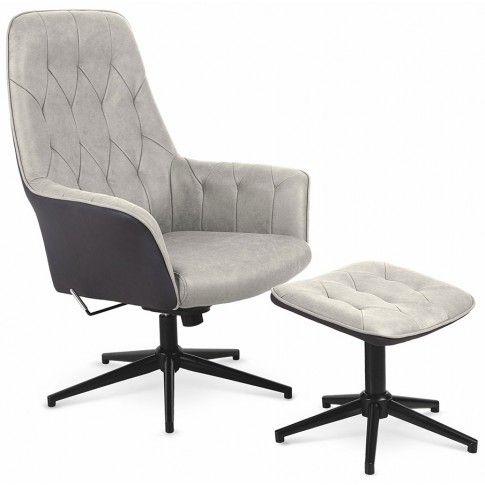 Zdjęcie produktu Fotel z podnóżkiem Rengo - beżowy.