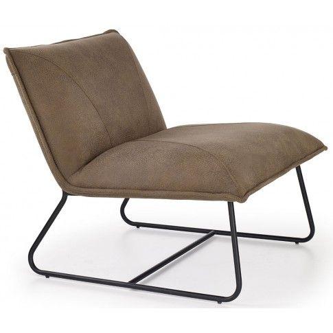 Zdjęcie produktu Industrialny fotel Alden - beżowy.