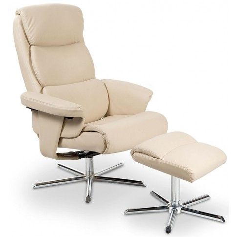 Zdjęcie produktu Rozkładany fotel Gordon - kremowy.