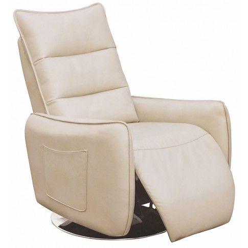 Zdjęcie produktu Tapicerowany fotel Lergo - beżowy.