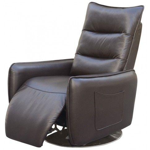 Zdjęcie produktu Rozkładany fotel Lergo - brązowy.