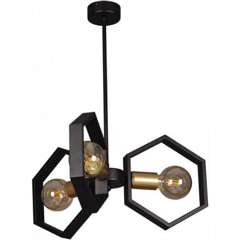 Czarna industrialna lampa wisząca S060-Gesta