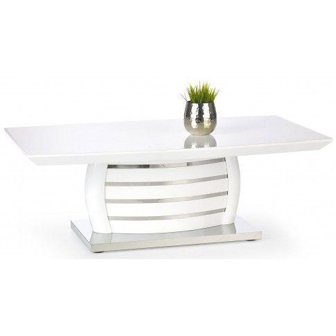 Zdjęcie produktu Lakierowana ława Rivea - biały połysk.