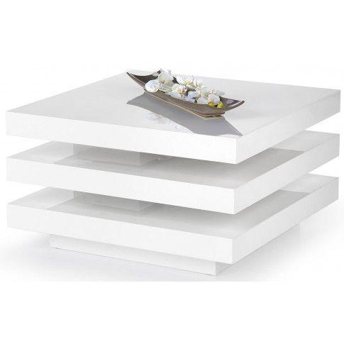 Zdjęcie produktu Rozkładana biała ława Vista - połysk.