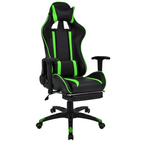 Czarno zielony fotel gamingowy Coriso 2X