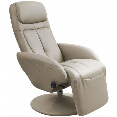 Zdjęcie produktu Rozkładany obrotowy fotel wypoczynkowy Timos - cappuccino.